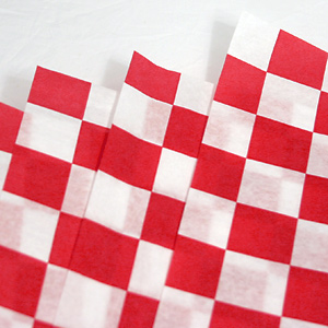 12x12 Red Checkered Basket Liner (Bundle of 1000)
